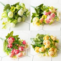 Simulation Flower Small Tea Bud Wedding Wall Guide Layout Silk Fake Supplies Studio Window Shooting Props Decorative Flowers & Wreaths