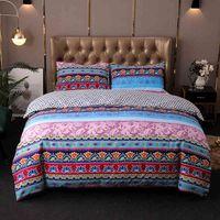 Огромное одеяло Кровать Спальня Роскошные постельные принадлежности Сплошные 2 / 3шт Одноместный Двойной Круг Размер Богемия Пододеяльник Набор