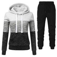 Women's Hoodies & Sweatshirts 2021Winter Casual Tracksuit Women 2 Piece Set Hoodie+Pants Sportswear Sports Suit Hooded Sweatshirt Female Clo