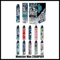 100% оригинальный монстр Max Max одноразовые E-сигареты устройства набор устройств 2500 Puffuls Prefult POD Vape Pen Authentic VS бар плюс двойной с модной конструкцией и большим питанием