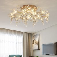 Modern Crystal Ceiling Lights Led Corridor Lighting For Living room Kitchen Gold Bed Light lampara techo