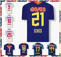 20 21 Bundesliga Club Poulsen Forsberg 축구 유니폼 Olmo Orban Cunha Sabitzer Halstenberg 홈 멀리 2021 남자 축구 셔츠