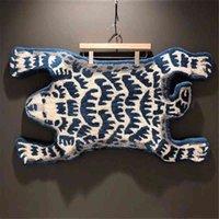 Главная Меблировка 19ss Человеческий Полярный медведь Коврик плюшевые ручной работы творческий модный модный салон ковер большой мат пола поставщик B85G DVAI