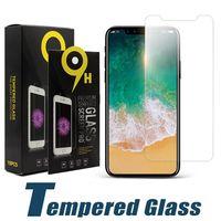Ekran Koruyucu Koruyucu LCD Temperli Cam Film iphone 12 11 Pro X XS Max 8 7 6 Artı Samsung J3 J7 Başbakan 2018 LG Stylo 4