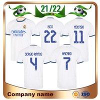 21/22 Real Madrid Dazard Soccer Jersey 2021 Accueil Benzema Militao Moduric Marcelo de Fútbol Sergio Ramos Asensio Isco Lucas V Chemise de football Uniformes