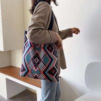 Designer luxuryLarge-capacity woven bag womens autumn and winter 2021 new womens bag atmospheric one-shoulder handbag fashion tote bag