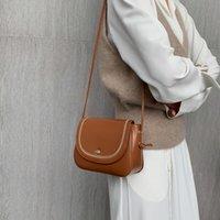 Sacos da noite Saco das mulheres 2021 nicho coreano design de mensageiro feminino de moda pequeno quadrado PU couro sólido cor andralyn loja única