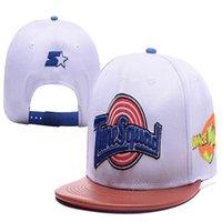SpaceJam Cuero Brim Toucas Gorros Gorras de béisbol Hip Hop Sports Snapback Hats Chapeu de Sol Swag Hombres Mujeres