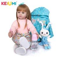 Keiumi 24 pollici Silicone Reborn Bambola bambino 60 cm Neonato Pincessa PRINCESS REBORN BEBE Toys Toys Ploth Body Doll Bambini Compleanno Regalo di Natale Q0910