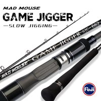 Boat Fishing Rods Japan Full Fuji Parts MADMOUSE Slow Jigging Rod 1.98M PE 3-6 Lure 150-400G 20kgs Spinning casting Ocean