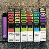 Puff XXL barras descartáveis Caixa de Mod Vapor E Cigarros DisparsVape Atomizer Clone Pen Kit Descartável Vape Cartucho Pods 850mAh Bateria 1600 Puffs Vaporizador