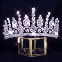 Hair Clips & Barrettes 2021 Luxury Crystal Wedding Accessories Bride Shiny Zircon Crown Headdress Dress