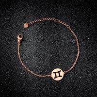 Non sbiadire 12 costellazioni semplici ed eleganti gioielli monili braccialetto fatto a mano lucido moda regali di Natale per le ragazze link, catena