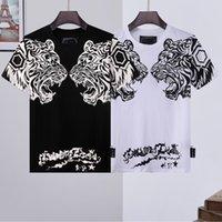 PP Phillip Простые футболки череп футболки роскошные футболки мужские футболки высококачественные хлопковые конструкции пары тройник мужской верхний TNF одежда фабрика Palm CC CHANGAP ANGLES