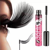 4D Smudge-Proof Mascara Fibra de pestañas a prueba de agua Tinta negra Rimel Curling Eye Lajas alargamiento de la extensión de maquillaje Volumen Mascara Bea029