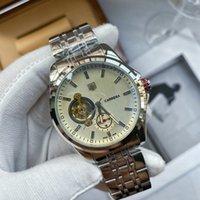 Carrera Mens Watches Top Brand فاخرة ووتش الرجال Tonneau التلقائي Tourbillon الأعمال Heuer ساعة اليد الميكانيكية للإنسان