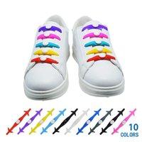 الألوان سيليكون 10 أربطة الأحذية الملحقات الإبداعية كسول مرونة الأحذية الأربطة الرجال والنساء خاصة لا التعادل رباط الحذاء