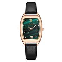 Vintage Leather Women Watches Luxury Fashion Square Design Ladies Wristwatches Casual Small Female Quartz Clock Zegarek Damski