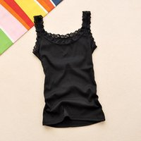 Women's Tanks & Camis Tank Tops Women Square Collar Solid Casual Basic Camisole Summer Knitted Slim Vest Ruffles