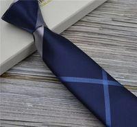 Top Brand Bran Moda Business Casual Men's Lazs 8.0cm arrow Cuello de cuello teñido
