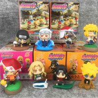 Action Figretide Play Boîte Aveugle Naruto 8 Modèles / Set Animation Ornements Ornements Baby Grabbing Machine Boîte Hauteur 5cmmodel Décorations