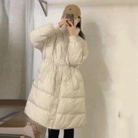 OFTBUY 2021 New 90%White Duck Down Winter Jacket Women X-Long Coat Thick Warm Drawstring Design Outerwear Overcoat Streetwear