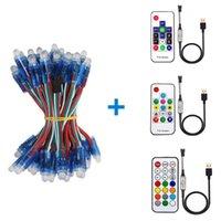 Modules USB 50PCS 12MM WS2811 Full-Color Led Pixel Module IP68+ 14key RF Controller DC 5V
