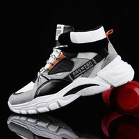 Hightop Summer Men's Sport Shoes Man Running Shoes Men Sports Shoes for Men High Top Sneakers Mens Tennis Shoe Walk Grey D-421 Q0728
