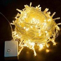 문자열 야외 크리스마스 LED 문자열 조명 100m 50m 30m 20m 10m 5m luces decoration 요정 빛 휴가 조명 트리 garland