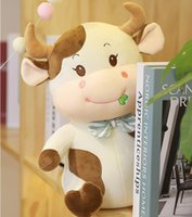 30cm Cute Soft Stuffed Animals Cow Toys Plush Doll Small Milk Cattle Pillow Baby Sleeping Toy Children Birthday Christmas Gift
