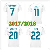 Klasik Retro Gerçek Madrid Futbol Formaları 17 18 Balya Benzema Modrit Futbol Gömlek ISCO Maillot Sergio Ramos Vintage S-3XL