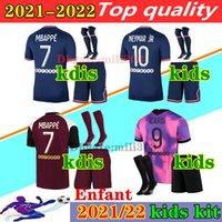 New psg crianças kit conjunto de meias de futebol jersey maillot psg crianças 2019 2020 kits de futebol 19 20 Maillot de pé psg crianças camisa MBAPPE jersey