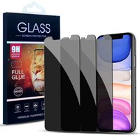 9H 프라이버시 아이폰 12 11 Pro XR ix / XS 최대 8 7 6s 플러스 용 안티 - 눈부심 강화 유리 화면 보호기