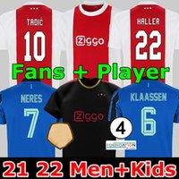 المشجعون لاعب أمستردام لكرة القدم الفانيلة 2021 2022 اياكس كودوس أنتوني الأعمى البروسيات تاديك نيريس كرويف جيرسي 21 22 الرجال + أطفال كيت كرة القدم قميص الزي بعيدا الأزرق