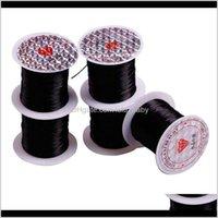 Prodotti Drop Consegna 2021 ZF Tessitura Elastica Filo di cristallo da cucire 10m / rotolo per wefts estensioni dei capelli parrucca senza soluzione di continuità Strumenti Aessori Pelxd