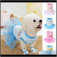 Apparel Supplies Home & Garden Lace Good Quality Fashion Skirt Print Cat Dogs Clothes Vest Pet Cloth Cute Dog Dress Drop Delivery 2021 9Svar