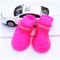 Köpek Giyim Pet Çizmeler Floresan Lateks Yağmur Yavru Ayakkabı Teddy Ayakkabı Kapakları
