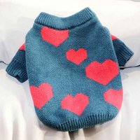 Dog Apparel Autumn And Winter Clothes Love Printing Pet Teddy Cat Bichon Pomeranian VIP Small Schnauzer Knitted Sweater