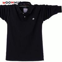 긴 소매 남성 2021 여름 패션 고품질 셔츠 남성 솔리드 비즈니스 캐주얼 Hombre 면화 Moownuc 6XL 7XL 8XL 남자 폴로스