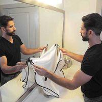 Premium Home Pulizia Impermeabile Grembiule da barba da uomo da bagno da uomo rasatura e taglio antiaderente barba cape capo di rifinitura