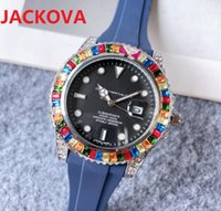 Simple Designer Famous Colorful Big Diamonds Ring Watches Luxury Fashion Men And Women Steel Band Quartz Movement Clock DAYDATE Lowest Price Wristwatches Gifts