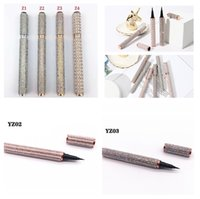 Top vendedor 6styles autoadesivo diamante delineador deyeliner caneta-livre de colagem livre para cílios falsos À prova d 'água liner lápis de alta qualidade
