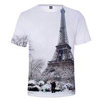 Men's T-Shirts France Paris Eiffel Tower 3D T Shirt Women Men T-shirt Famous La Tour Pullover Shirts Tops Brand Clothing