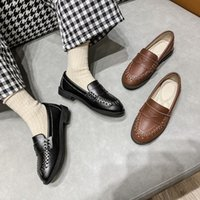 Flat Shoes Spring Autumn Loafers Children Leather Girls Moccasins Student Dress School Flats Breather Baby Kids 033