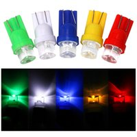 20Pcs Lot T10 W5W 1LED Concave Head Small Car Bulbs Straw Hat For Auto Clearance Lamp Instrument Lights 12V