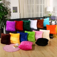 Shiny Smooth Plush Pillow Case Cushion Cover 43x43cm Square Sofa Chair Couch Pillowcase Home Seat Bed Decorative pillows Covers