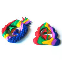 Rainbow Tie Dye Grip Snapperz Fidget Toy Hand Grab Snap Tiktok Pineapple Toys Nipper Silicone Sucker Game Sensory Autism Anxiety Reliever DHL