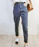 Women's Leggings Plus Size 8XL Denim Pants Women High Waist Washed Jeans Pocket Spring Summer Casual Trousers 2021 Baggy Work Jean Vintage