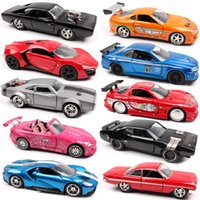 Jada 132 Fast Ford Dodge Charger Chevy Nissan GTR Honda Lykan Toyota Supra Course Diecast Model Scale Cars Jouet pour enfants