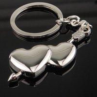 Keychains RE Couple Creative Heart Shape Keychain Car Pendant Key Chain Zinc Alloy Keyfob Ring Valentine's Day Romantic Lover Gift D13